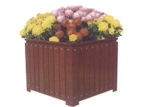 塑木花箱花盆