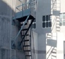 安达烟囱安装旋转梯|烟囱折梯安装|烟囱安装检测平台