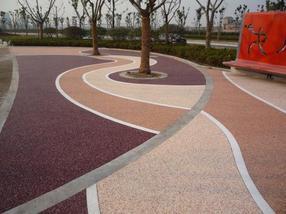 供應景觀藝術透水地坪 彩色透水混凝土