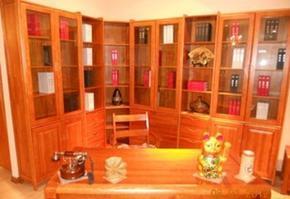 供应豪华书柜 办公桌 成套实木家