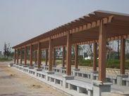 甘肃定西塑木廊架栏杆厂家供应高端木塑材料制品