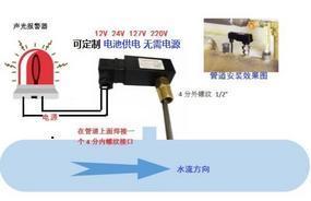 循环冷却水(润滑油)管道断流报警器