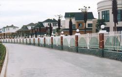新绿谷牌PVC社区护栏