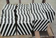 山西黑+白色大理石水刀拼花JD099