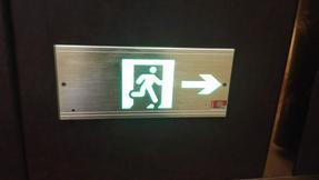 全铝疏散指示灯 拉丝铝出口标志灯