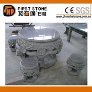 树根形状雕刻圆桌椅GCF4008