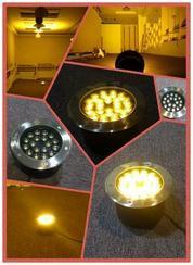 LED圆形18W地埋灯不锈钢面盖304地埋灯嵌入式安装亮化