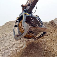 水洗鹅卵石挖机滚筒洗石斗