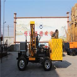 小四轮护栏打桩空压机一体机  马路边护栏打桩机