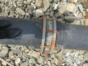 尾坝矿用超高分子钢编耐磨复合管