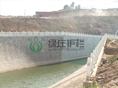 仿石护栏,仿汉白玉护栏,河堤工程,水利治理,河道治理