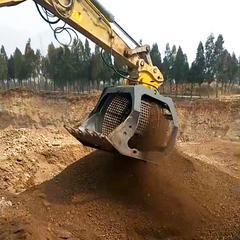 水洗机制砂挖机洗沙斗