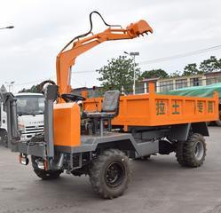 厂家定制农用四不像随车挖 四驱随车挖掘装载车 建筑工程随车挖