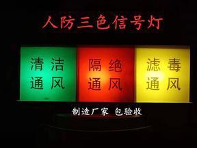 通风方式信号指示灯箱