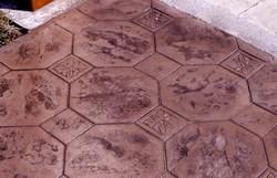 玻美耐彩色混泥土压花艺术地坪