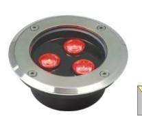 LED全彩圆形地埋灯,大功率全不锈钢地埋灯