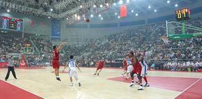广东广州室内篮球场供应商,室内篮球场木地板,枫木运动地板
