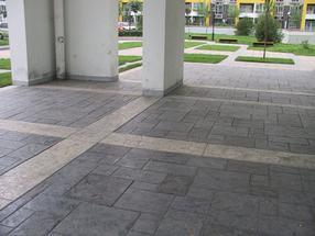 彩色混凝土压印技术艺术压模地坪施工方法以及工程案例