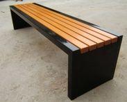 延安户外塑木园林椅防腐木公园座椅厂家定做各种款式