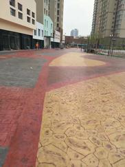 沧州禧福荷堂小区艺术地坪完工