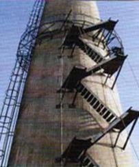 """烟囱安装""""之""""形钢结构"""