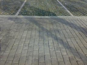 园林生态环保艺术压花地坪材料施工