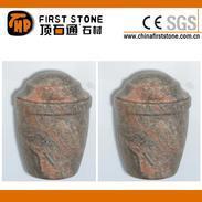 红色花岗岩欧式骨灰盒GMB-005