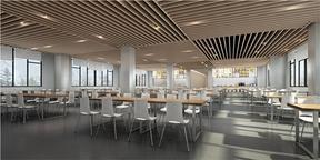 重庆学校食堂装修,高校餐厅食堂设计,餐饮食堂装饰图