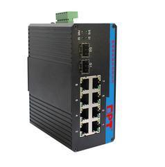 奥普泰2千兆光8百兆电工业级网管型冗余环网以太网POE交换机