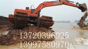 湿地挖机出租哪家专业/恒兴水利工程租赁sell/湿地挖机