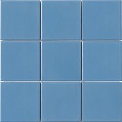 厂家直供蓝色釉面20x20泳池马赛克 小区酒店会所游泳池专用马赛克瓷砖
