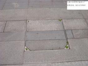 不锈钢置砖井盖700*700*80*5
