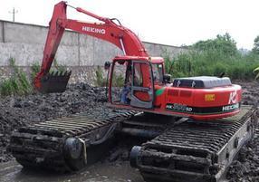 保定市安新县水陆挖机湿地挖机租赁销售价格优惠