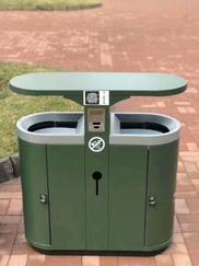 安康不锈钢垃圾桶生产厂家在哪?石泉酒店单桶垃圾桶结实耐用
