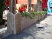 草白玉花围石,花池石围板,树池石围板GCB619