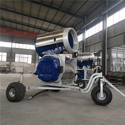 国产小型人工造雪机的适用性