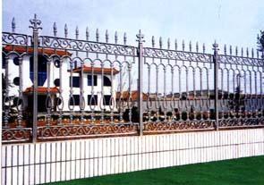 艺栏杆 铁艺围墙 不锈钢伸缩门