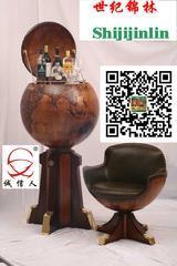 木制地球仪、木制酒窖