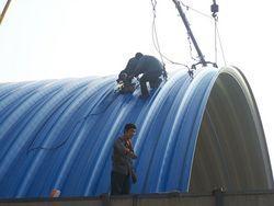 彩钢板拱型屋面钢结构0311-89683456