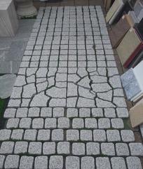 灰白色花岗岩网贴地铺