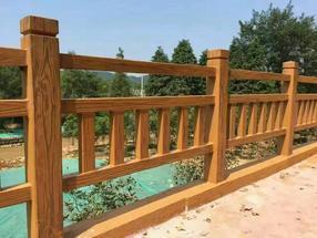 仿木护栏 水泥栏杆 艺术围栏