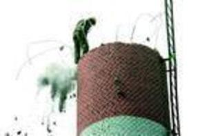 人工拆除锅炉烟囱