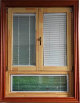 美晟华奇柞木木包铝门窗介绍