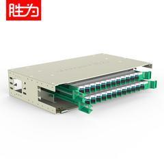 胜为 19英寸抽拉式24芯SC单模满配ODF光纤配线架