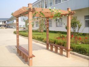 甘肃天水平凉塑木廊架厂家供应高品质木塑花架