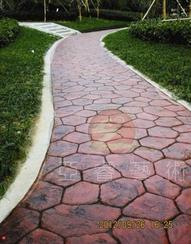 市政人行道改造,质优石材——彩色地坪,彩色压印地坪