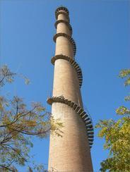 上海烟囱安装旋转梯|烟囱折梯安装|烟囱安装检测平台
