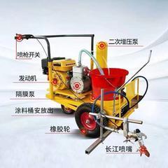 【厂家直供】液压冷喷马路画线助力车式多功能小区车库路面划线机