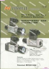 厦门乾球供应台湾TWOWAY压力继电器及充液阀 标准型号