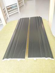 黑色PVC仿古拉丝工程踢脚线